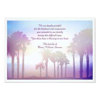 The Palms Bereavement Thank You Card 13 Cm X 18 Cm Invitation Card
