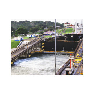 The Panama Canal, High Def Photography Canvas Print