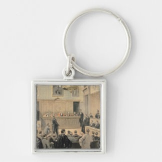 The Panama Trial Silver-Colored Square Key Ring