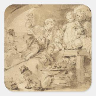 The Pancake Maker by Jean-Honore Fragonard Sticker