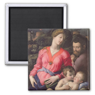 The Panciatichi Holy Family, c.1530-32 (oil on pan Square Magnet