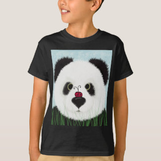 The Panda And His Visitor Kids T-Shirt