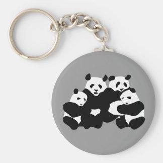 The Panda bear Basic Round Button Key Ring