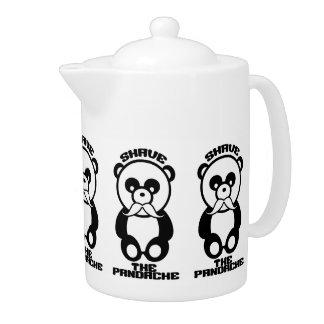 The Pandache (Panda mustache) teapot