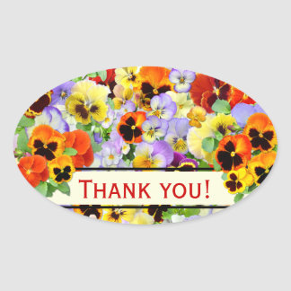 The Pansy Collection Oval Sticker