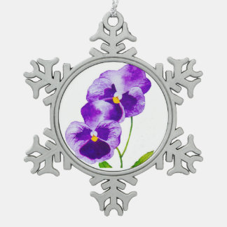'The Pansy Party' on a Pewter Ornament (III)
