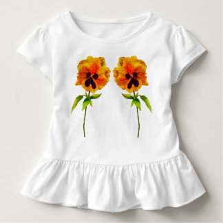 'The Pansy Party' on a Toddler Ruffle Tee (II)