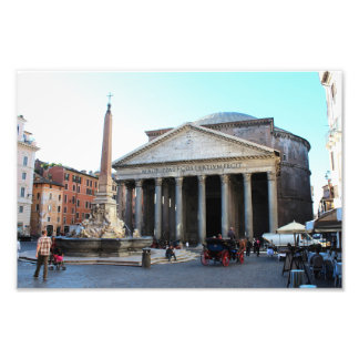The Pantheon in Rome, Italy Art Photo