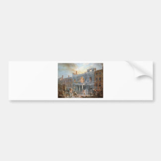 The Pantheon, the Morning after the Fire by Willia Bumper Sticker