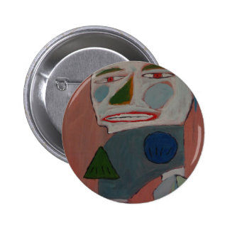 The Pantomime - by S B Eazle Pinback Button