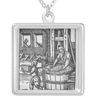 The Paper Maker Square Pendant Necklace