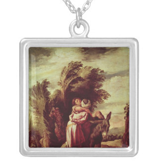 The Parable of the Good Samaritan Silver Plated Necklace