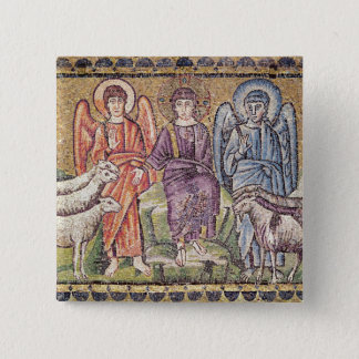 The Parable of the Good Shepherd 15 Cm Square Badge