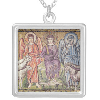 The Parable of the Good Shepherd Silver Plated Necklace