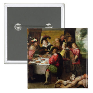 The Parable of the Rich Man and Lazarus 15 Cm Square Badge