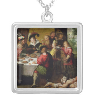 The Parable of the Rich Man and Lazarus Silver Plated Necklace