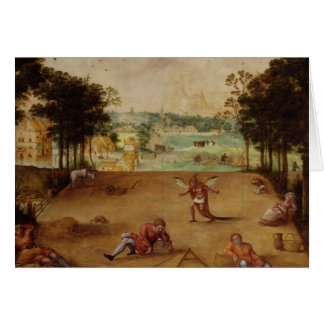 The Parable of the Wheat and the Tares, 1540 Greeting Card
