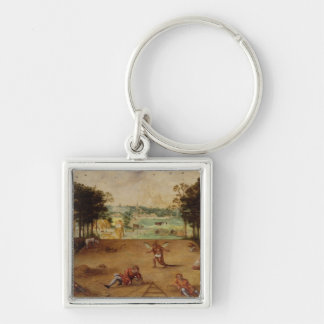 The Parable of the Wheat and the Tares, 1540 Silver-Colored Square Key Ring