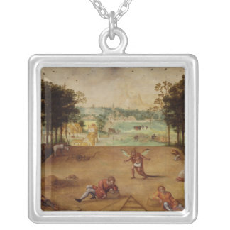 The Parable of the Wheat and the Tares, 1540 Silver Plated Necklace