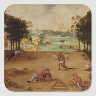 The Parable of the Wheat and the Tares, 1540 Square Sticker
