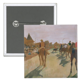 The Parade, or Race Horses in front of the Stands 15 Cm Square Badge