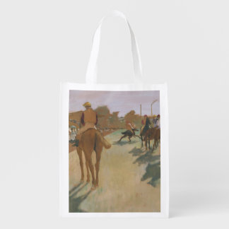 The Parade, or Race Horses in front of the Stands Reusable Grocery Bags