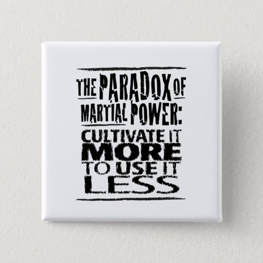 The Paradox of Martial Power 15 Cm Square Badge