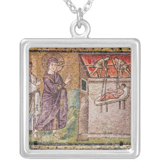 The Paralytic of Capharnaum Silver Plated Necklace