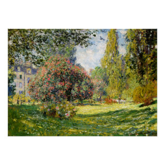 The Parc Monceau by Claude Monet Poster