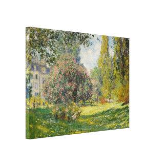 The Parc Monceau - Claude Monet Stretched Canvas Prints