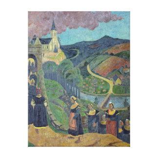 The Pardon of Notre-Dame-des-Portes at Canvas Print