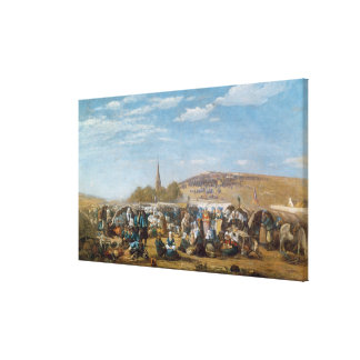 The Pardon of Sainte-Anne-La-Palud, Brittany Canvas Print