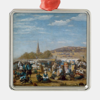 The Pardon of Sainte-Anne-La-Palud, Brittany Silver-Colored Square Decoration