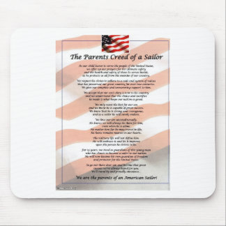The Parents Creed of a Sailor Mouse Pad