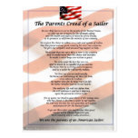 The Parents Creed of a Sailor Postcard