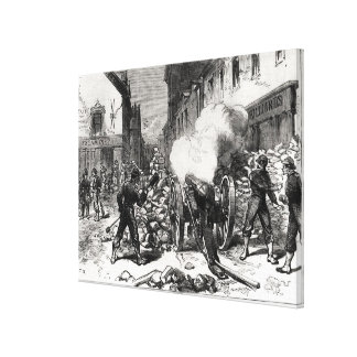 The Paris Commune: A Barricade at Issy Canvas Print