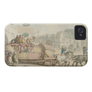 The Paris Diligence (pen & ink and w/c on paper) iPhone 4 Case