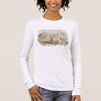 The Paris Diligence (pen & ink and w/c on paper) Long Sleeve T-Shirt