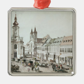 The Parish Church and Cemetery of Fauxbourg Christmas Ornament
