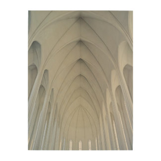 The parish church and landmarks of Reykjavik Wood Canvases
