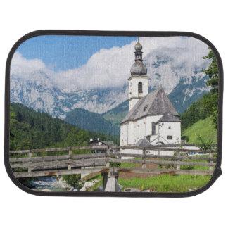 The parish church of Ramsau in Bavaria, Germany Car Mat