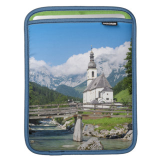 The parish church of Ramsau in Bavaria, Germany iPad Sleeve