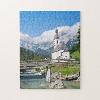 The parish church of Ramsau in Bavaria, Germany Jigsaw Puzzle