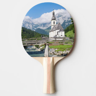 The parish church of Ramsau in Bavaria, Germany Ping Pong Paddle