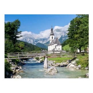 The parish church of Ramsau Postcards