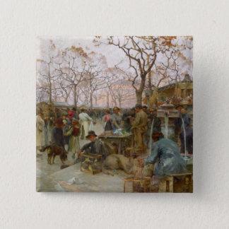 The Parisian Bird Market 15 Cm Square Badge