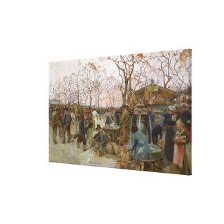 The Parisian Bird Market Canvas Print