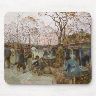 The Parisian Bird Market Mouse Pad