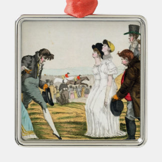 The Parisienne in London Silver-Colored Square Decoration