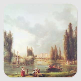 The Park and Chateau at Mereville Square Sticker